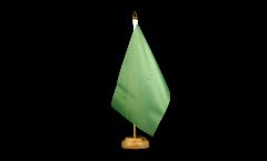 Tischflagge Einfarbig Grün - 15 x 22 cm