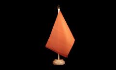 Tischflagge Einfarbig Orange - 15 x 22 cm