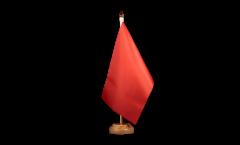 Tischflagge Einfarbig Rot - 15 x 22 cm