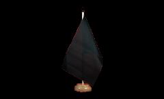 Tischflagge Einfarbig Schwarz - 15 x 22 cm