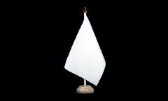 Tischflagge Einfarbig Weiß - 15 x 22 cm