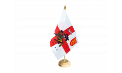 Tischflagge England mit Ritter - 15 x 22 cm