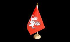 Tischflagge England weißer Drache - 15 x 22 cm