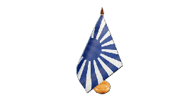 Tischflagge Fanflagge blau weiß - 15 x 22 cm