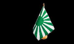 Tischflagge Fanflagge grün weiß - 15 x 22 cm
