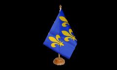Tischflagge Frankreich Île de France - 15 x 22 cm