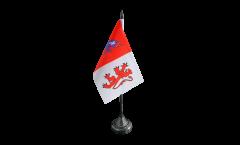 Tischflagge Frankreich Auch - 10 x 15 cm