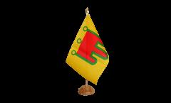 Tischflagge Frankreich Auvergne - 15 x 22 cm