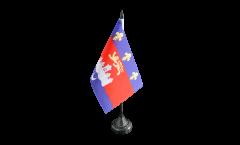 Tischflagge Frankreich Bordeaux - 10 x 15 cm