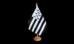 Tischflagge Frankreich Bretagne - 15 x 22 cm