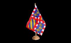 Tischflagge Frankreich Burgund - 15 x 22 cm