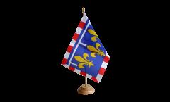 Tischflagge Frankreich Centre