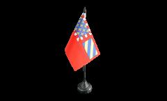 Tischflagge Frankreich Dijon - 10 x 15 cm