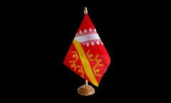 Tischflagge Frankreich Elsass - 15 x 22 cm