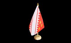 Tischflagge Frankreich Elsass neu - 15 x 22 cm