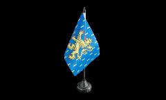 Tischflagge Frankreich Franche Comte - 15 x 22 cm