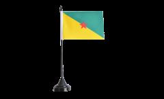 Tischflagge Frankreich Französisch Guayana - 10 x 15 cm