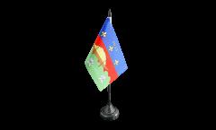 Tischflagge Frankreich Französisch Guayana Cayenne - 10 x 15 cm