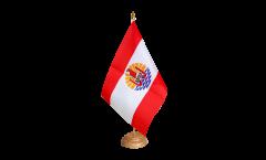 Tischflagge Frankreich Französisch Polynesien - 15 x 22 cm
