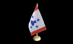 Tischflagge Frankreich Französisch Polynesien Austral-Inseln - 15 x 22 cm