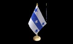 Tischflagge Frankreich Französisch Polynesien Gambierinseln - 15 x 22 cm
