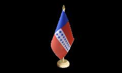 Tischflagge Frankreich Französisch Polynesien Tuamotu-Archipel - 15 x 22 cm