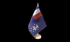 Tischflagge Frankreich Französische Süd- und Antarktisgebiete - 15 x 22 cm