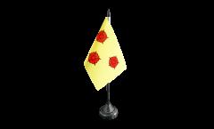 Tischflagge Frankreich Grenoble - 10 x 15 cm