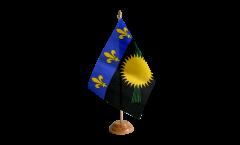 Tischflagge Frankreich Guadeloupe - 15 x 22 cm