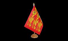 Tischflagge Frankreich Haute Normandie, treis cats