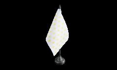 Tischflagge Frankreich Lilienwappen, weiß - 10 x 15 cm