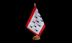 Tischflagge Frankreich Limousin - 15 x 22 cm