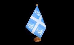Tischflagge Frankreich Martinique - 15 x 22 cm