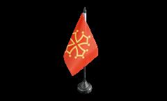 Tischflagge Frankreich Midi Pyrenees - 15 x 22 cm