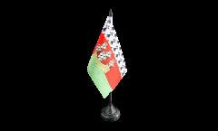 Tischflagge Frankreich Nantes - 10 x 15 cm