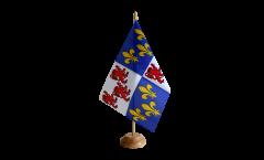 Tischflagge Frankreich Picardie - 15 x 22 cm