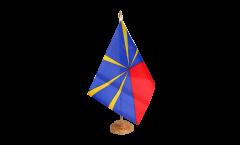 Tischflagge Frankreich Reunion - 15 x 22 cm