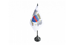 Tischflagge Frankreich Saint-Barthélemy - 10 x 15 cm