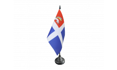 Tischflagge Frankreich Saint-Malo - 10 x 15 cm