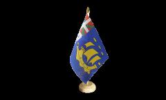 Tischflagge Frankreich Saint-Pierre und Miquelon - 15 x 22 cm