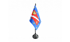 Tischflagge Frankreich Val-d'Oise - 10 x 15 cm