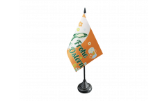 Tischflagge Frohe Ostern orange mit Osterhase