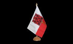 Tischflagge Gibraltar - 15 x 22 cm