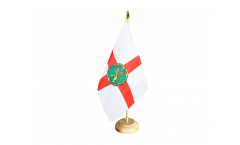 Tischflagge Großbritannien Alderney - 15 x 22 cm