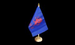 Tischflagge Großbritannien British Army Royal Welch Fusiliers - 15 x 22 cm