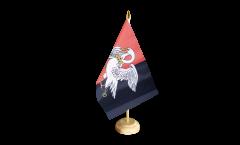 Tischflagge Großbritannien Buckinghamshire neu - 15 x 22 cm