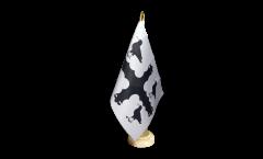 Tischflagge Großbritannien Flintshire - 15 x 22 cm