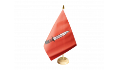 Tischflagge Großbritannien Infanterie der British Army - 15 x 22 cm