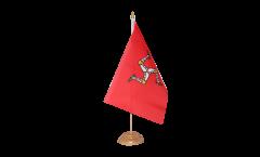 Tischflagge Großbritannien Isle of Man - 15 x 22 cm
