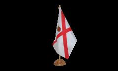 Tischflagge Großbritannien Jersey - 15 x 22 cm